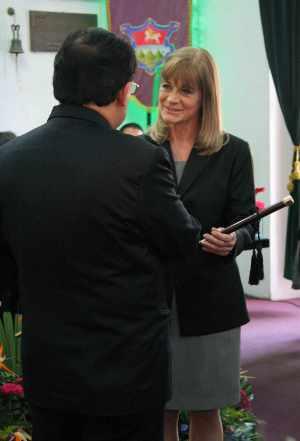 Susana Asencio, Juramentada Alcaldesa de La Antigua Guatemala