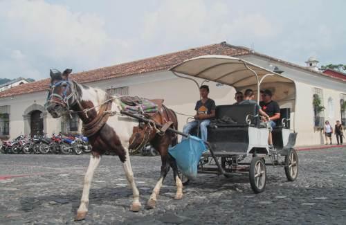 Prohíben Circulación de Carruajes en La Antigua Guatemala