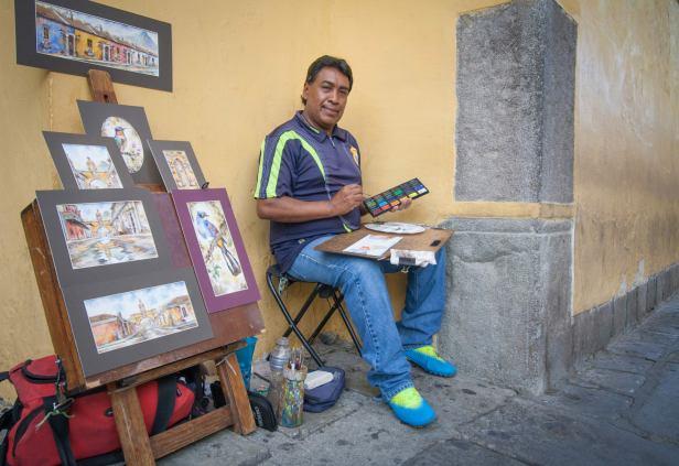 Artista Gabriel Gómez, Antigua Guatemala