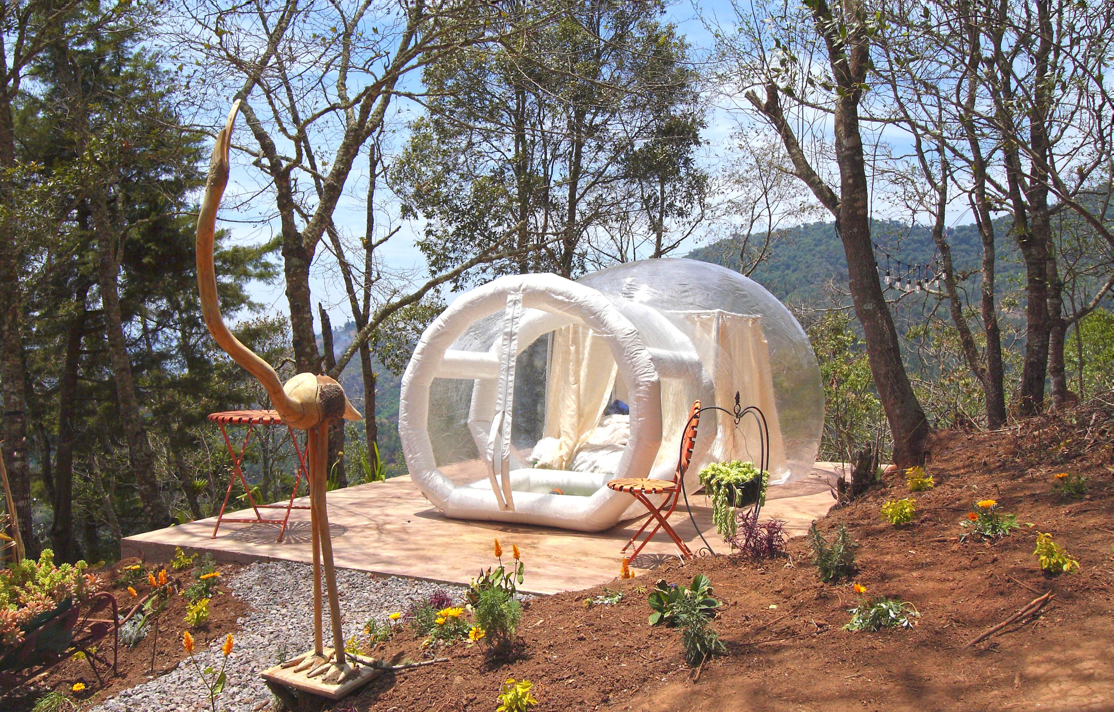 las Bubble tent de Altamira Antigua Guatemala
