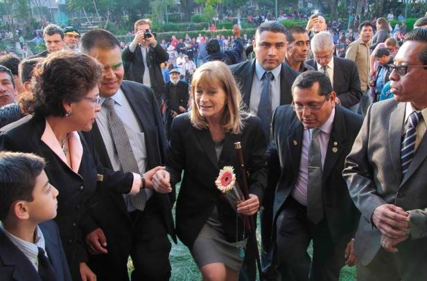 Susana Asencio Alcaldesa de Antigua Guatemala. Foto Luis Toribio