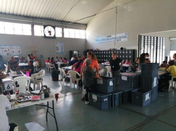 Elecciones Generales en Guatemala. En el Parque de la Industria se embalan las papeletas y material electoral previo a enviar a los 340 municipios del país