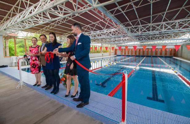 Inauguran piscina semiolímpica en Finca Colombia
